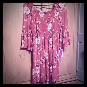 Fall Rose Dress NWT